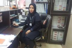 خانم فهیمه صابری مسئول واحد اورژانس کارشناس پرستاری
