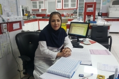 راحله علیزاده کاردان علوم آزمایشگاهی  مسئول واحد آزمایشگاه